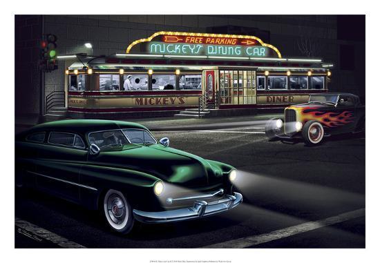 Diners and Cars II-Helen Flint-Art Print