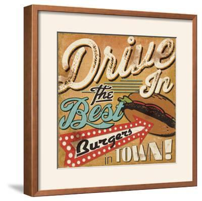 Diners and Drive Ins I-Pela Design-Framed Photographic Print