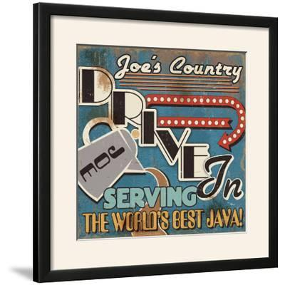 Diners and Drive Ins IV-Pela Design-Framed Photographic Print