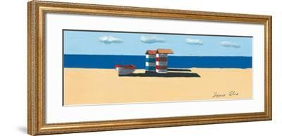 Dinghy and Shack II-Irene Celic-Framed Art Print