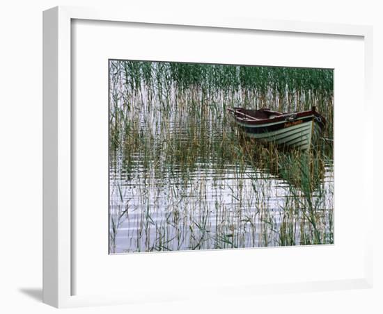 Dinghy Lady Loretta, Lough Conn, Ireland-Holger Leue-Framed Photographic Print