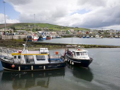 Dingle Harbour With Fishing Boats, Dingle, County Kerry, Munster, Republic of Ireland, Europe--Photographic Print