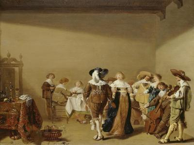 Dining and Celebrating Party, C. 1640-Anthonie Palamedes-Giclee Print