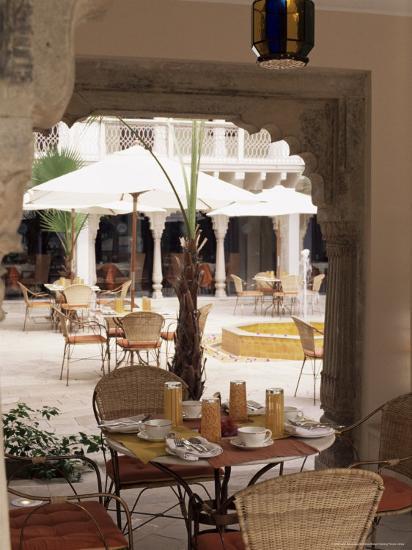 Dining Area, Usha Kiran Palace Hotel, Gwalior, Madhya Pradesh State, India-John Henry Claude Wilson-Photographic Print
