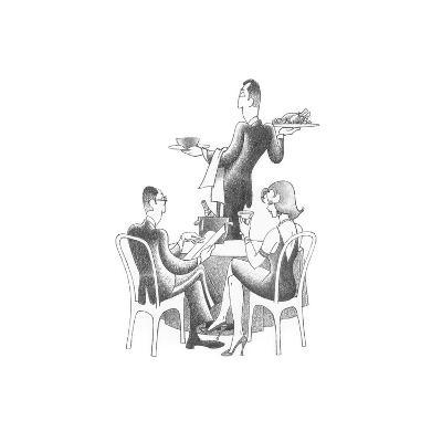 Dining Out-Roger Vilar-Art Print