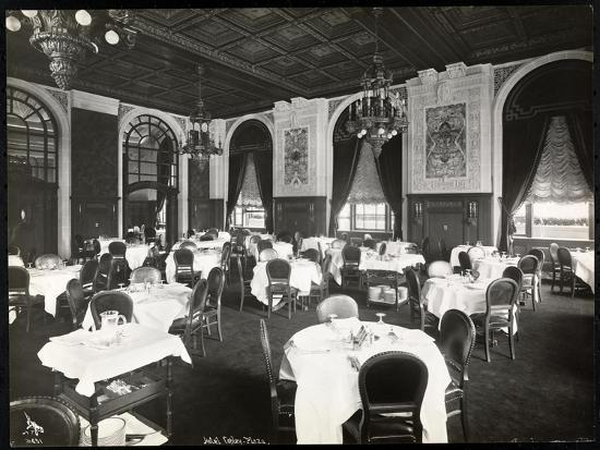Dining Room at the Copley Plaza Hotel, Boston, 1912 or 1913-Byron Company-Giclee Print