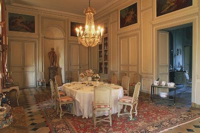 Dining Room in Chateau of La Motte-Tilly, 18th Century, Nogent-Sur-Seine, Champagne-Ardenne, France--Photographic Print