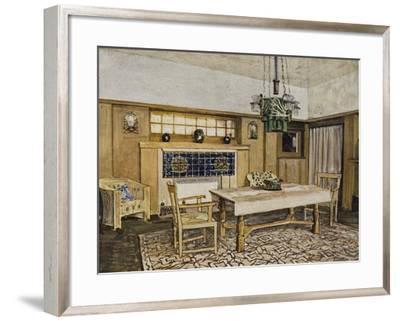 Dining Room in Karlsruhe, by Max Lauger (1864-1952), Germany, 20th Century--Framed Giclee Print