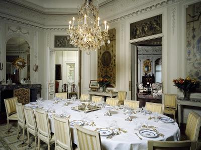 Dining Room in Ooidonk Castle, Deinze, Belgium--Giclee Print