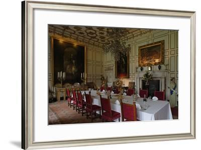 Dining Room in Warwick Castle on Avon River (14th Century), Warwickshire, United Kingdom--Framed Photographic Print