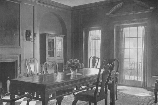 Dining room, looking towards the garden terrace, house of Mrs WK Vanderbilt, New York City, 1924-Unknown-Photographic Print