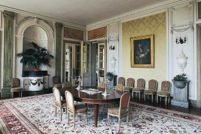 Dining Room of Chateau of Craon, 18th Century, Pays De La Loire, France--Photographic Print