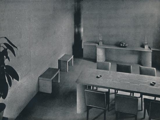 'Dining room of the architect Oliver Hill, F.R.I.B.A.', 1942-Unknown-Photographic Print