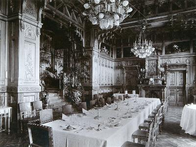 Dining Room of the Imperial Palace in Bialowieza Forest, Russia, Late 19th Century-Mechkovsky-Photographic Print
