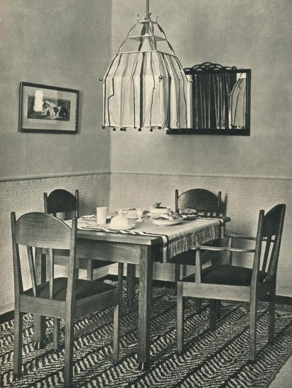 'Dining-Table and Chairs designed by Willem Penaat', 1928-Unknown-Photographic Print