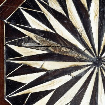 Dining Table with Original 17th Century Carved Inlay on Top and Legs Which Were Remade in 19th Cent--Giclee Print