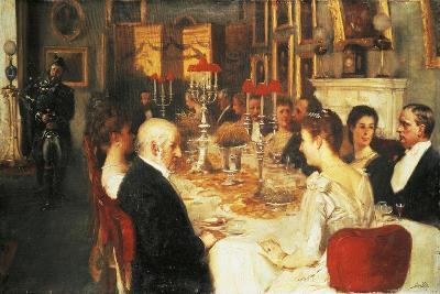 Dinner at Haddo House-Alfred Edward Emslie-Giclee Print