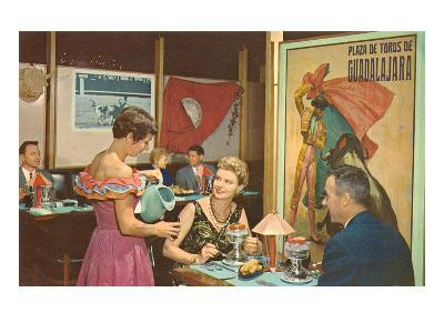 Dinner at the Mexican Restaurant--Art Print