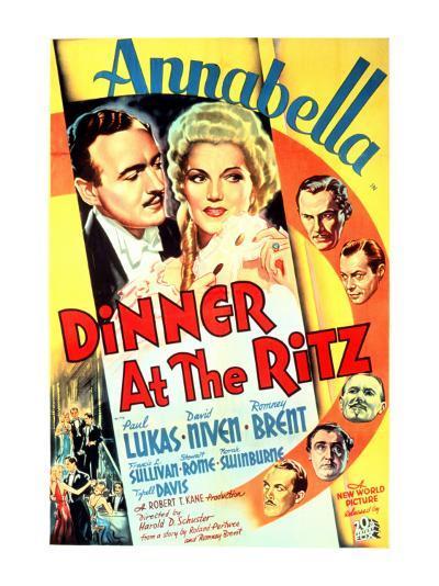 Dinner at the Ritz, David Niven, Annabella, 1937--Photo