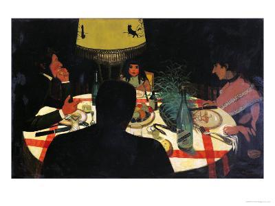 Dinner by Lamplight, 1899-F?lix Vallotton-Giclee Print