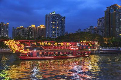 Dinner Cruise Along Pearl River Enjoying Guangzhou Skyline, China-Stuart Westmorland-Photographic Print
