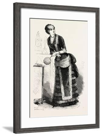 Dinner Dress Front, Fashion, 1882--Framed Giclee Print