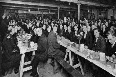 Dinner for the Homeless, Church Army House, Westminster, London, 1926-1927--Giclee Print