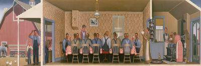 Dinner for the Threshers, 1934-Grant Wood-Giclee Print