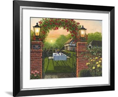 Dinner for Two - Rose Cottage-Richard Harpum-Framed Art Print