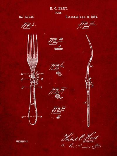Dinner Fork Patent-Cole Borders-Art Print