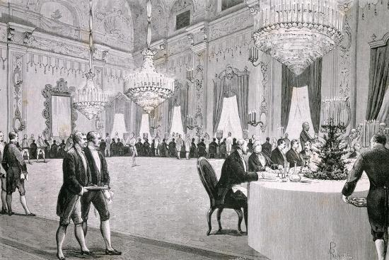 Dinner Given by King Victor Emmanuel Ii for Representatives of Both Houses, March 18, 1877--Giclee Print