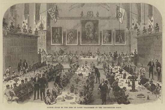 Dinner Given by the Inns of Court Volunteers to the Universities Corps--Giclee Print