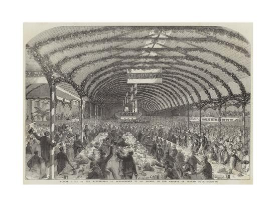Dinner Given by the Marchioness of Londonderry to 3000 Pitmen, in the Grounds of Seaham Hall--Giclee Print
