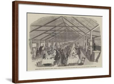 Dinner Given to the Operatives of Messers Horrocks--Framed Giclee Print
