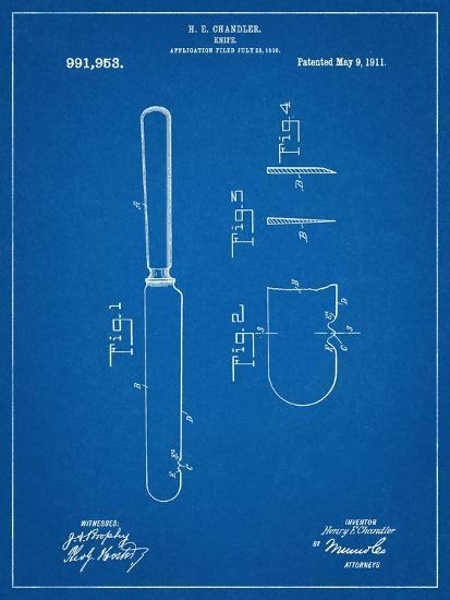 Dinner Knife Patent--Art Print