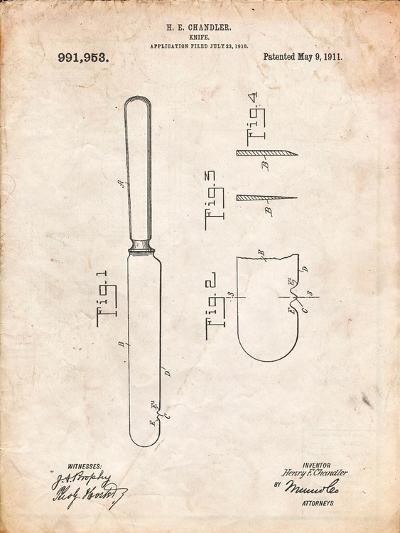 Dinner Knife Patent-Cole Borders-Art Print