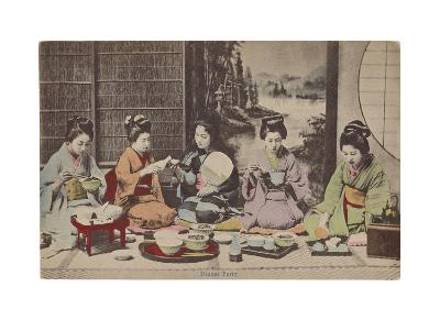 Dinner Party- The Kyoto Collection-Premium Giclee Print