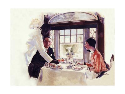 Dinner Serivce on the B&O-Dan Content-Giclee Print