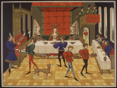 Dinner Served for the Lady of the House-15th C--Giclee Print