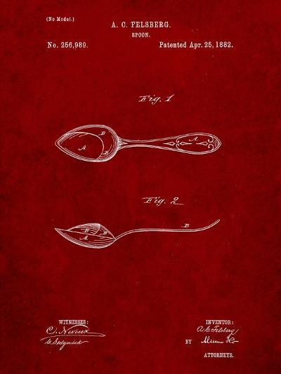 Dinner Spoon Patent-Cole Borders-Art Print