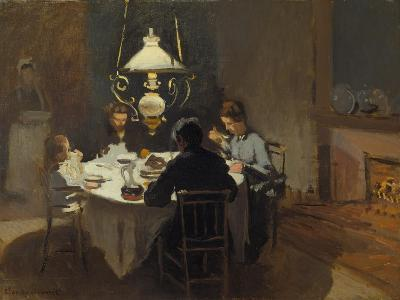Dinner-Time at the Sisley's, ca. 1868/69-Claude Monet-Giclee Print