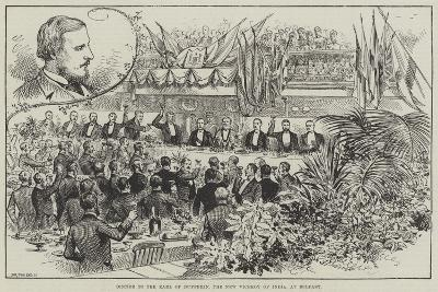 Dinner to the Earl of Dufferin, the New Viceroy of India, at Belfast--Giclee Print