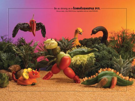 Dino Foodscapes™--Laminated Poster