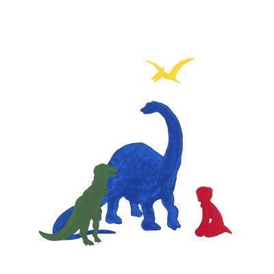 Dinosaur Dreaming-Millie Brooks-Premium Giclee Print