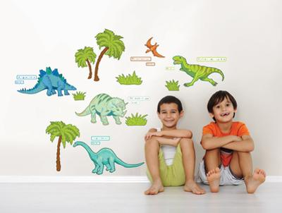 Dinosaur Expedition Wall Art Decal Kit