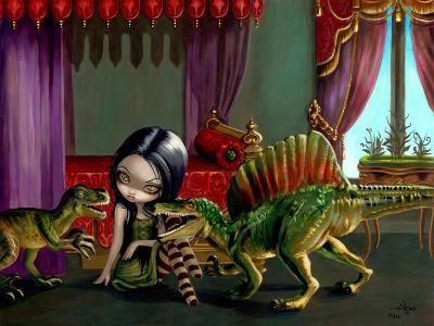 Dinosaur Friends II-Jasmine Becket-Griffith-Art Print