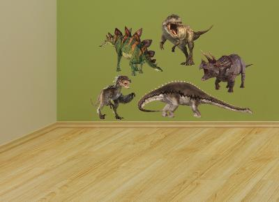 Dinosaur Group Layout--Wall Decal