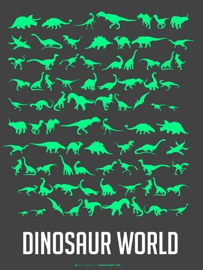 Dinosaur Poster Green-NaxArt-Art Print