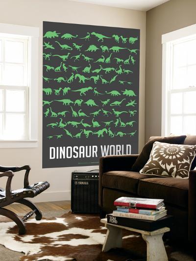 Dinosaur Poster Green-NaxArt-Wall Mural