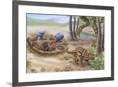Dinotreasures 11-Cathy Morrison Illustrates-Framed Giclee Print